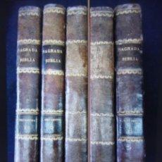 Libros antiguos: PHELIPE SCIO DE S.MIGUEL -LA SANTA BIBLIA 5 TOMOS . (DE LA VULGATA LATINA). Lote 233708645