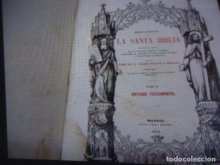 Libros antiguos: Phelipe Scio de S.Miguel -La Santa Biblia 5 TOMOS . (de la Vulgata Latina) - Foto 21 - 233708645