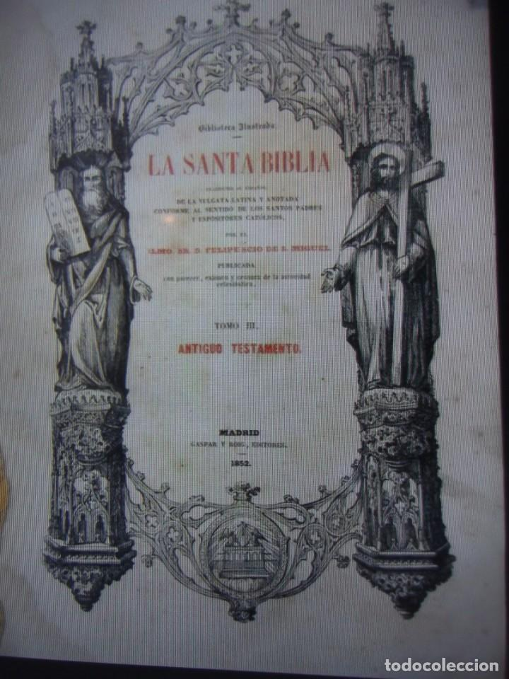 Libros antiguos: Phelipe Scio de S.Miguel -La Santa Biblia 5 TOMOS . (de la Vulgata Latina) - Foto 29 - 233708645