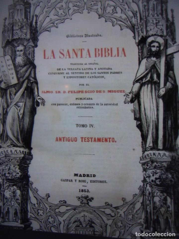 Libros antiguos: Phelipe Scio de S.Miguel -La Santa Biblia 5 TOMOS . (de la Vulgata Latina) - Foto 47 - 233708645