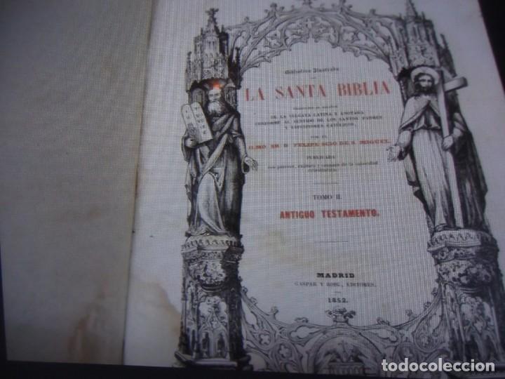 Libros antiguos: Phelipe Scio de S.Miguel -La Santa Biblia 5 TOMOS . (de la Vulgata Latina) - Foto 88 - 233708645
