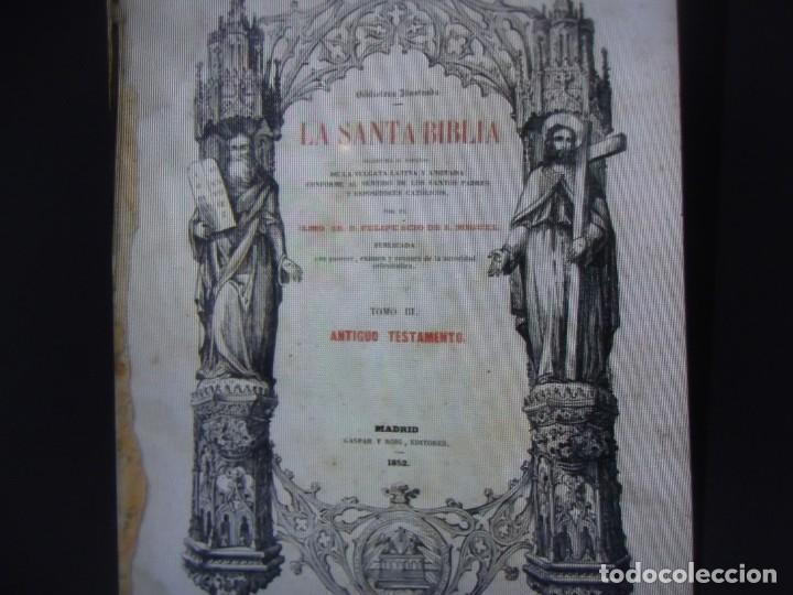 Libros antiguos: Phelipe Scio de S.Miguel -La Santa Biblia 5 TOMOS . (de la Vulgata Latina) - Foto 98 - 233708645