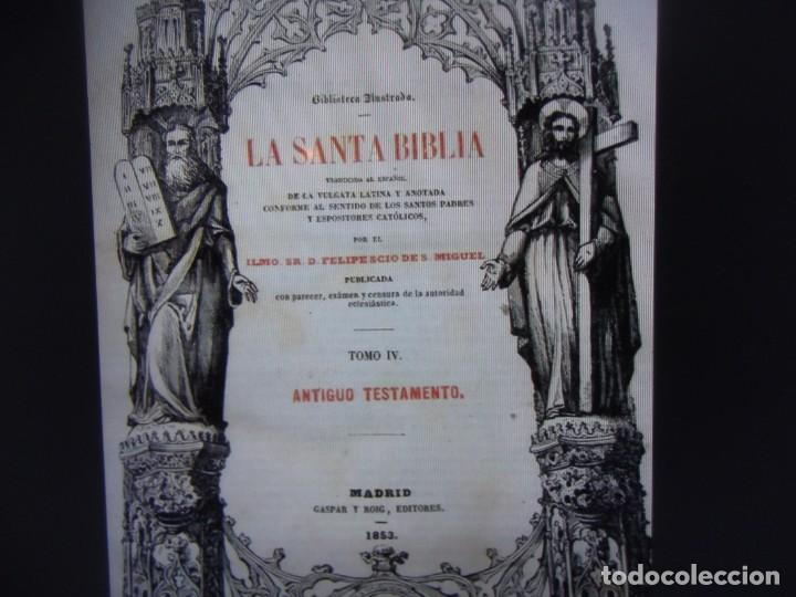 Libros antiguos: Phelipe Scio de S.Miguel -La Santa Biblia 5 TOMOS . (de la Vulgata Latina) - Foto 116 - 233708645