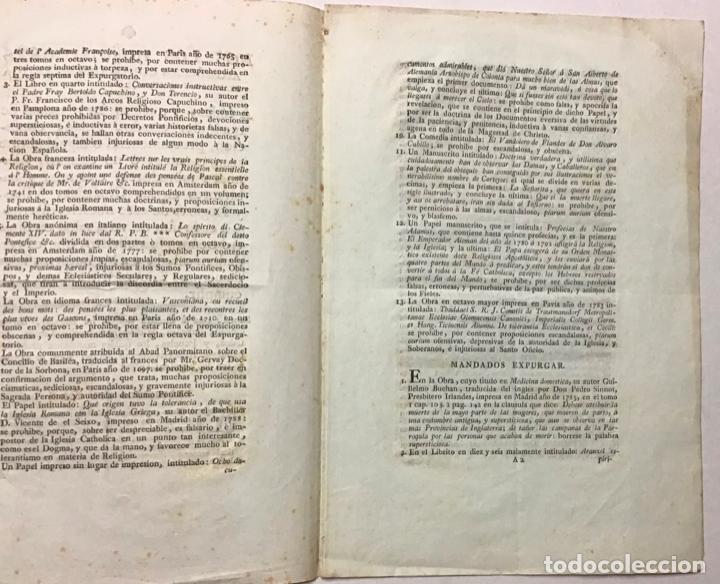 Libros antiguos: INQUISICIÓN ESPAÑOLA [ÍNDICE DE LIBROS PROHIBIDOS]. NOS LOS INQUISIDORES APOSTÓLICOS...... - Foto 2 - 234852415
