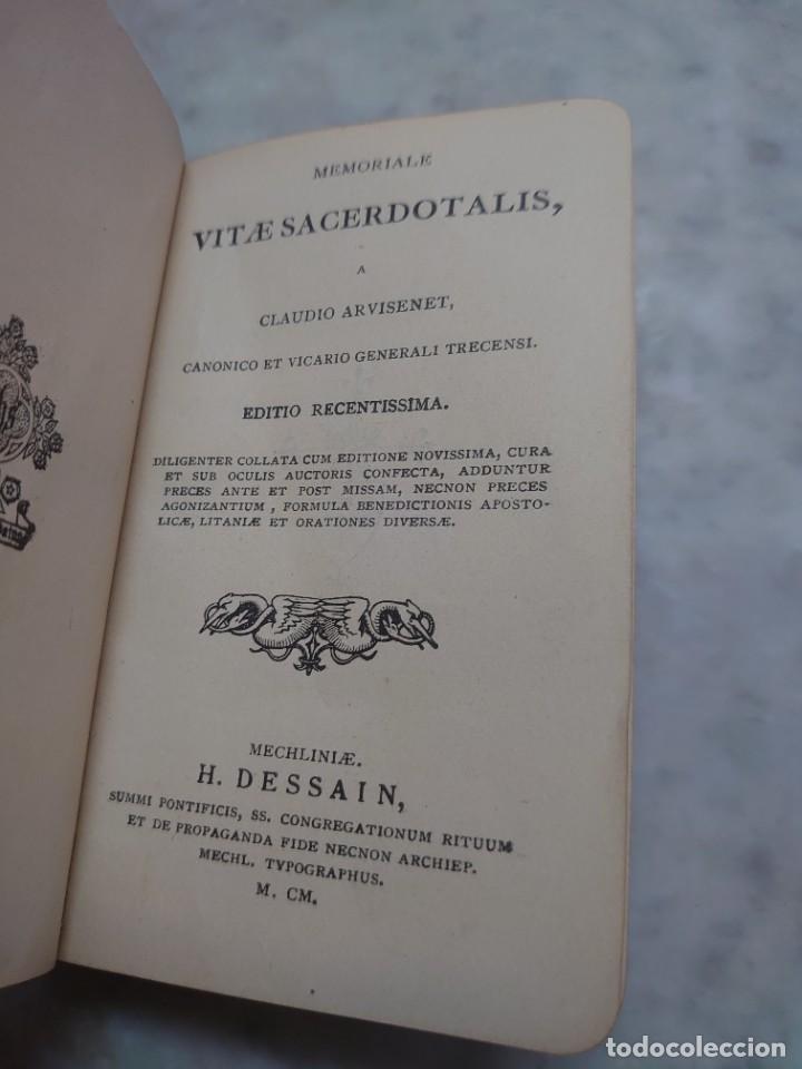 Libros antiguos: Prpm 28.. Memoriale Vitae Sacerdotalis - Claudio Arvisenet (1900) - Foto 2 - 234917205