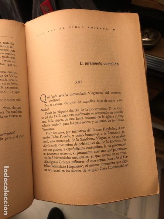 Libros antiguos: Libro veo el cielo abierto - Foto 4 - 235281690