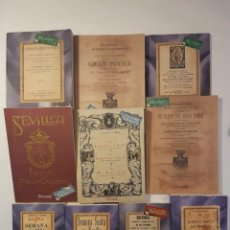 Libros antiguos: 10 LIBROS FACSÍMILES RELATIVOS A LA SEMANA SANTA DE SEVILLA. COFRADÍAS GRAN PODER NAZARENOS. Lote 235552970