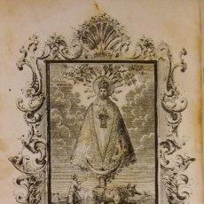Libros antiguos: NOVENARIO A LA VIRGEN MARÍA DE LLEDÓ. CASTELLÓ, 1862. RARÍSIMO.. Lote 236180125