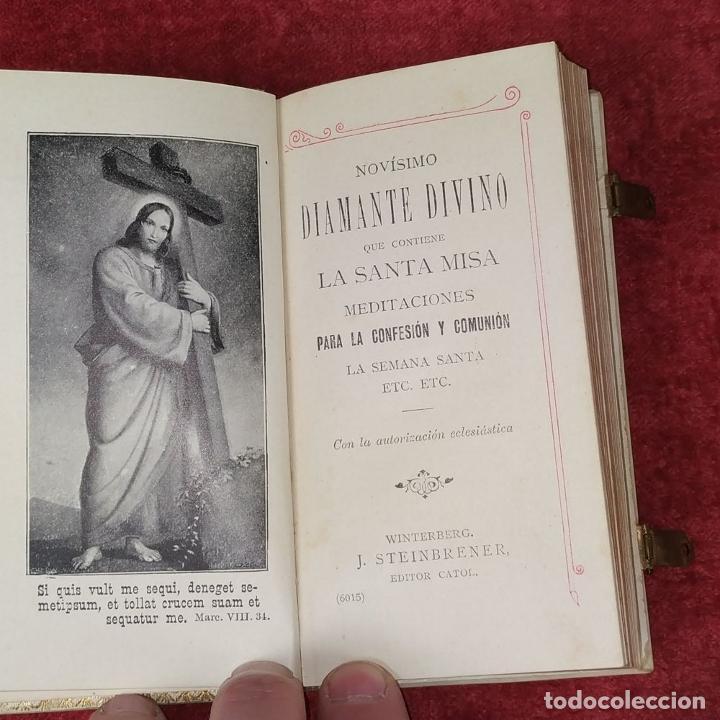 Libros antiguos: DEVOCIONARIO. NOVÍSIMO DIAMANTE DIVINO. STEINBRENER. ALEMANIA. CIRCA 1889 - Foto 12 - 236331370