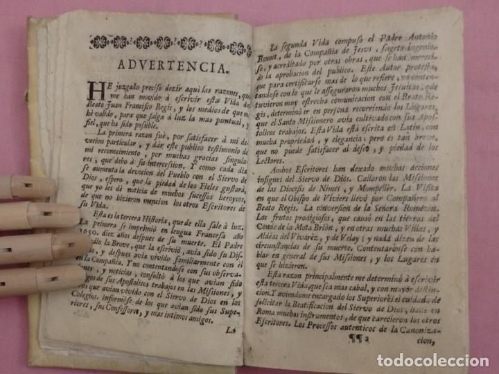 Libros antiguos: VIDA DE JUAN FRANCISCO REGIS. COMP. DE JESÚS. 2ª EDICIÓN ESPAÑOLA. AÑO 1718. - Foto 7 - 236650655