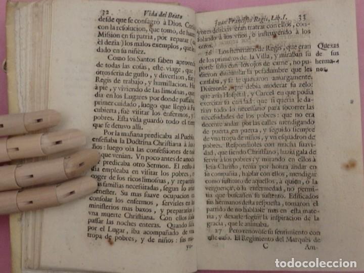 Libros antiguos: VIDA DE JUAN FRANCISCO REGIS. COMP. DE JESÚS. 2ª EDICIÓN ESPAÑOLA. AÑO 1718. - Foto 9 - 236650655