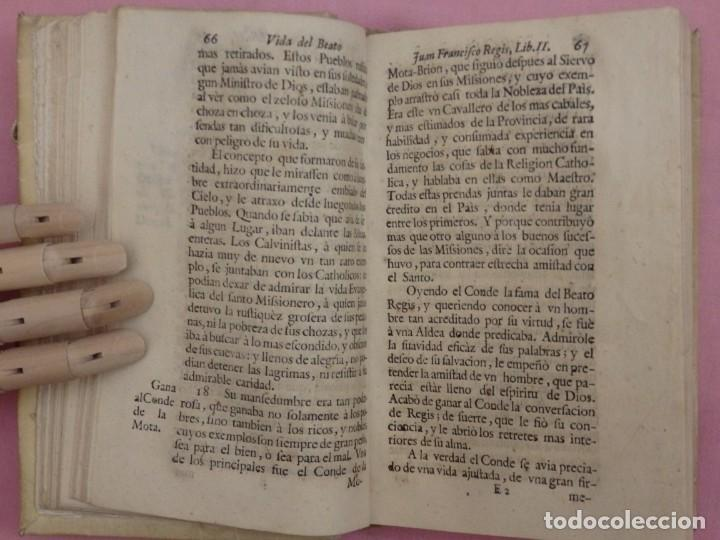 Libros antiguos: VIDA DE JUAN FRANCISCO REGIS. COMP. DE JESÚS. 2ª EDICIÓN ESPAÑOLA. AÑO 1718. - Foto 10 - 236650655