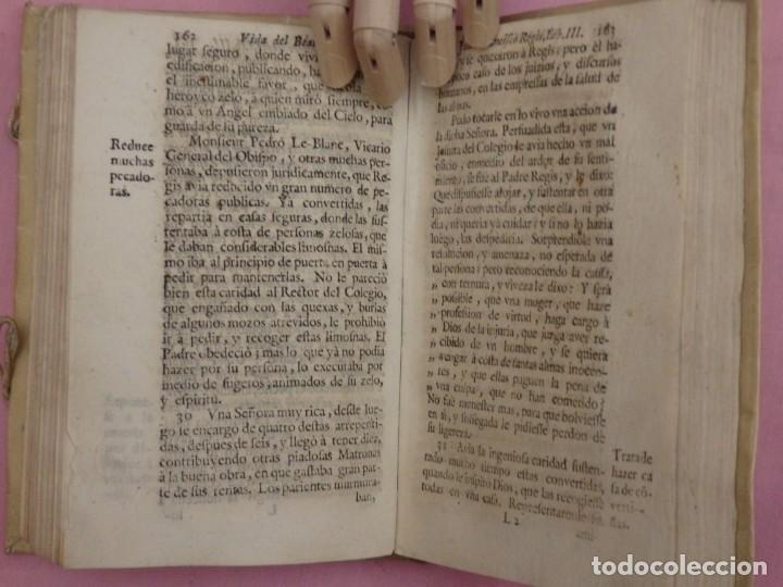 Libros antiguos: VIDA DE JUAN FRANCISCO REGIS. COMP. DE JESÚS. 2ª EDICIÓN ESPAÑOLA. AÑO 1718. - Foto 11 - 236650655