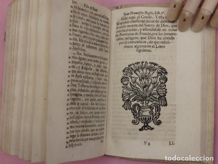 Libros antiguos: VIDA DE JUAN FRANCISCO REGIS. COMP. DE JESÚS. 2ª EDICIÓN ESPAÑOLA. AÑO 1718. - Foto 12 - 236650655