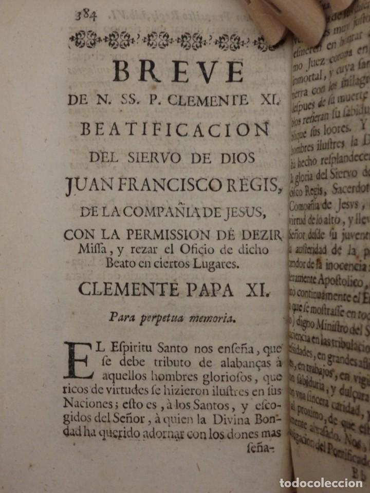 Libros antiguos: VIDA DE JUAN FRANCISCO REGIS. COMP. DE JESÚS. 2ª EDICIÓN ESPAÑOLA. AÑO 1718. - Foto 13 - 236650655