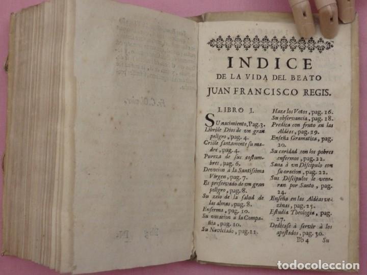 Libros antiguos: VIDA DE JUAN FRANCISCO REGIS. COMP. DE JESÚS. 2ª EDICIÓN ESPAÑOLA. AÑO 1718. - Foto 15 - 236650655