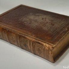 Libros antiguos: HEURES NOUVELLES OU RECUEIL DE PRIÉRES. EN PIEL Y CANTOS DORADOS. 540 PÁGINAS.. Lote 237146465