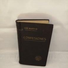 Libros antiguos: CONFESIONES DE SAN AGUSTÍN: TOMOS I Y II EN UN SOLO VOLUMEN (EDICIÓN DE 1926). Lote 237078345