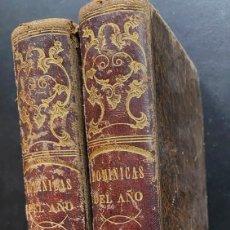 Libros antiguos: SERMONES ABREVIADOS PARA TODAS LAS DOMINICAS DEL AÑO - 2 TOMOS - 1853. Lote 238289090