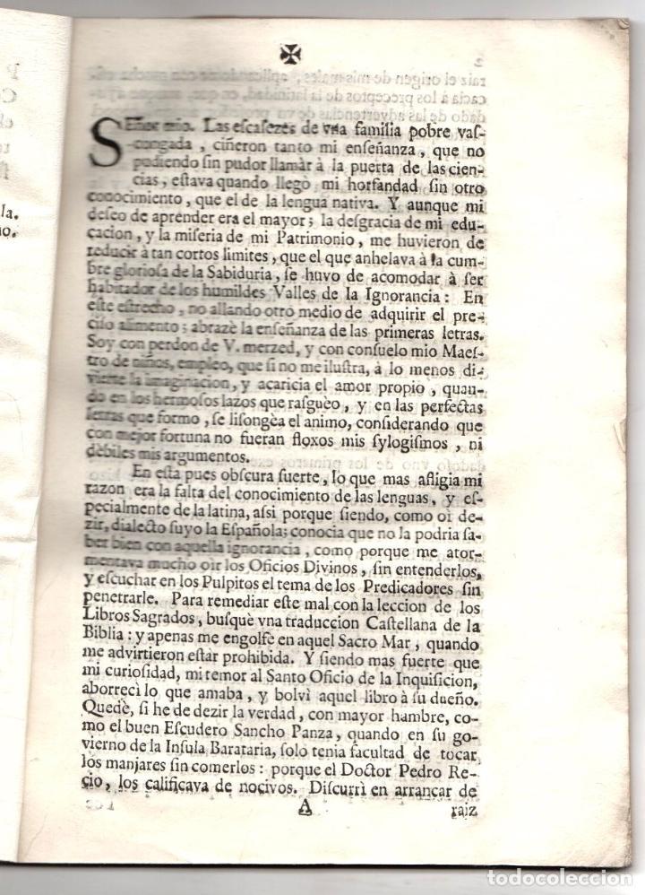 Libros antiguos: CARTA DEL MAESTRO DE NIÑOS A DON GABRIEL ALVAREZ DE TOLEDO, CAVALLERO DEL ORDEN DE ALCANTARA... 1713 - Foto 2 - 239420955