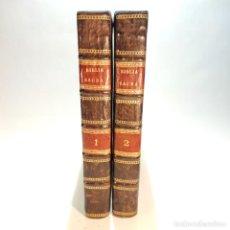 Libros antiguos: BIBLIA SACRA VULGATAE EDITIONIS. EDITIO NOVA. ILLUSTRATA. 2 TOMOS. VENETIIS. NICOLUM PEZZAMA. 1731.. Lote 239474075