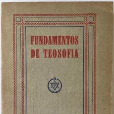 Libros antiguos: FUNDAMENTOS DE TEOSOFÍA. - JINARAJADASA, C.. Lote 239552200
