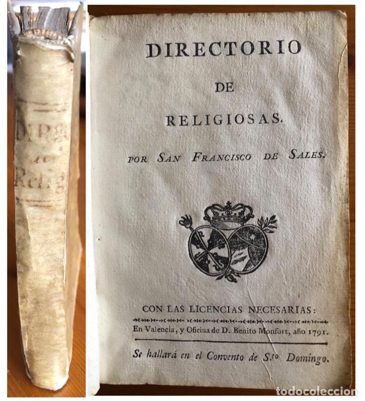 PERGAMINO- DIRECTORIO DE RELIGIOSAS- SAN FRANCISCO DE SALES- VALENCIA 1791 (Libros Antiguos, Raros y Curiosos - Religión)
