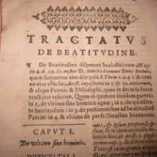 Libri antichi: TRACTATUS DE BEATITUDINE -ACTIBUS HUMANIS-DE BONITATE ET MALILIA S/F S/AUTOR. Lote 240746750