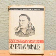 Libri antichi: BREVIARIOS DEL PENSAMIENTO ESPAÑOL-P.FRANCISCO DE VITORIA -1939. Lote 241448225