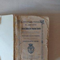 Libros antiguos: EL DEVOTO DE NUESTRA SEÑORA DEL PERPETUO SOCORRO- LIBRO RARO- 1928- ALFONSO MARÍA LIGORIO. Lote 241646470
