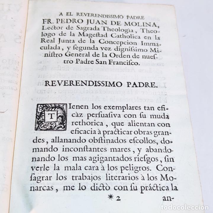 Libros antiguos: Vida admirable del Phenix Seraphico, y redivivo Francisco, San Pedro de Alcántara. 2 Tomos. 1765. - Foto 3 - 242476225