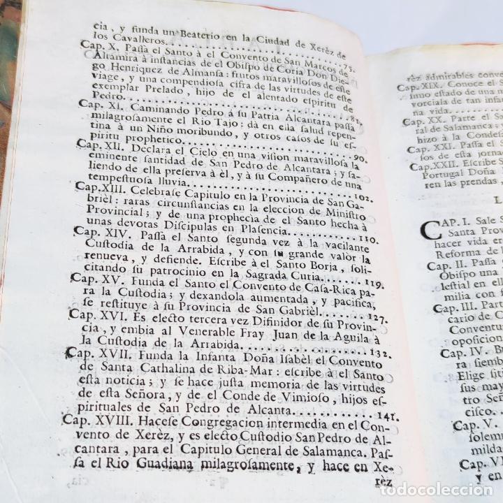 Libros antiguos: Vida admirable del Phenix Seraphico, y redivivo Francisco, San Pedro de Alcántara. 2 Tomos. 1765. - Foto 8 - 242476225