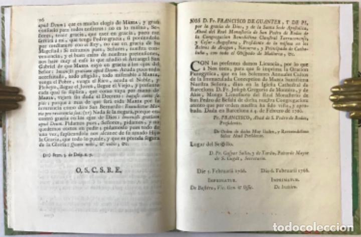 Libros antiguos: ORACION PANEGYRICA, QUE EN LOS SOLEMNES ANNUALES CULTOS QUE LA REAL COFRADIA DE LA IMMACULADA... - Foto 3 - 243550615