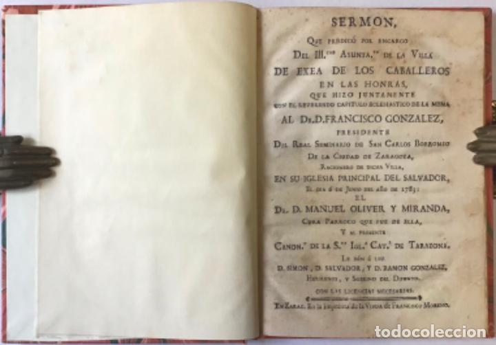 SERMON QUE PREDICÓ POR ENCARGO DEL ILL.TRE AYUNTA.TO DE LA VILLA DE EXEA DE LOS CABALLEROS EN LAS... (Libros Antiguos, Raros y Curiosos - Religión)