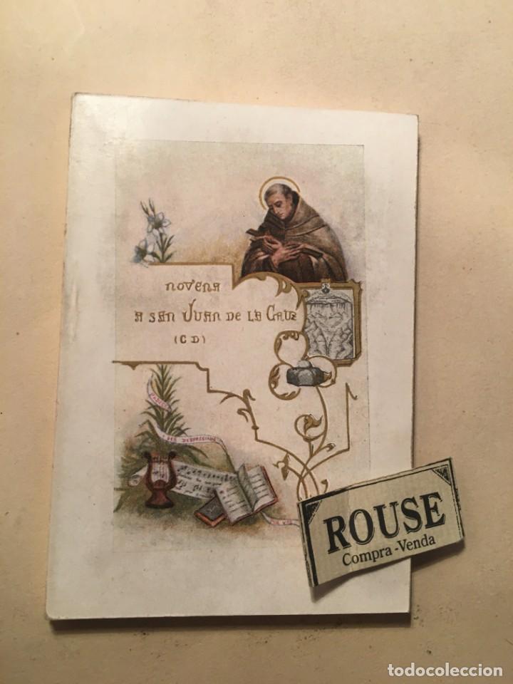 NOVENA A SAN JUAN DE LA CRUZ - (CD) 1930 SEGOVIA TIP. DE CARLOS MARTIN - 88 PAG. 12X8,5 CM. (Libros Antiguos, Raros y Curiosos - Religión)