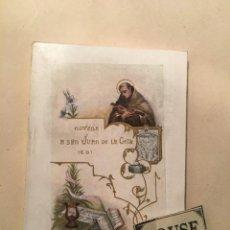 Libros antiguos: NOVENA A SAN JUAN DE LA CRUZ - (CD) 1930 SEGOVIA TIP. DE CARLOS MARTIN - 88 PAG. 12X8,5 CM.. Lote 243634660