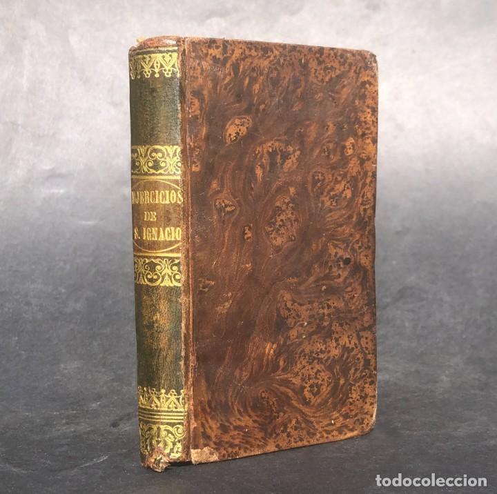 AÑO 1835 - EJERCICIOS DE NUESTRO PADRE SAN IGNACIO DE LOYOLA - COMPAÑIA DE JESUS - CATALÁN - LATIN (Libros Antiguos, Raros y Curiosos - Religión)