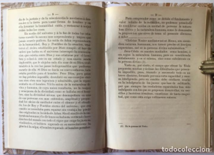 Libros antiguos: TESIS TEOLOGICA: JESUCRISTO ES NUESTRO MEDIADOR COMO HOMBRE, O SEA SEGUN LA NATURALEZA HUMANA, ... - Foto 4 - 244000470