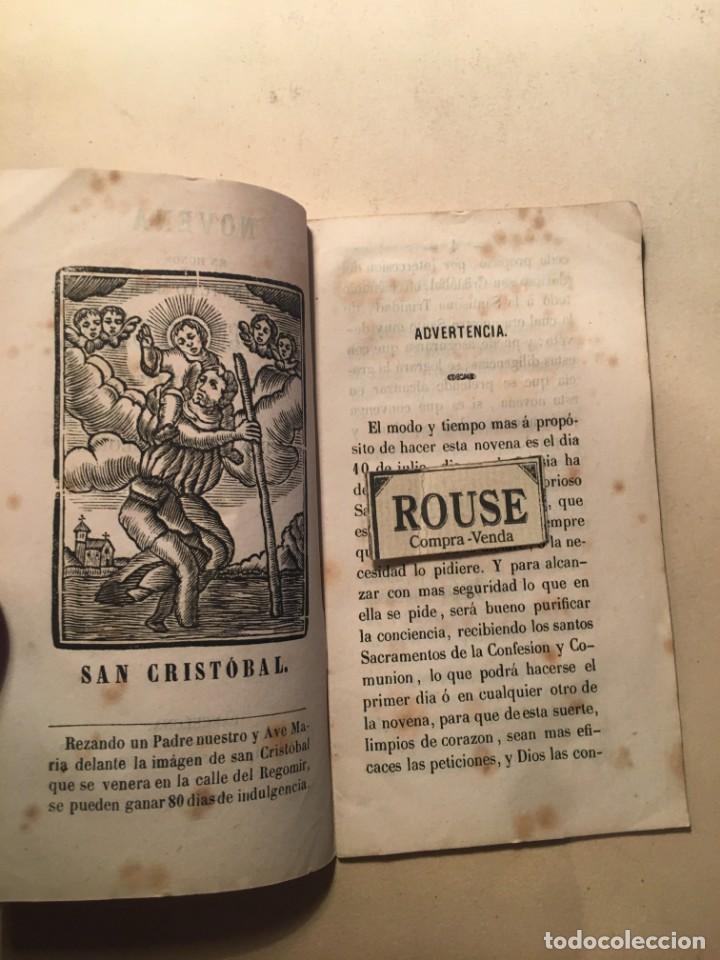 Libros antiguos: NOVENA EN HONOR DEL INVICTO MÁRTIR SAN CRISTOBAL APOSTOL DE LICIA Y PATRON DE BARCELONA 1866 BARCELO - Foto 2 - 244578705