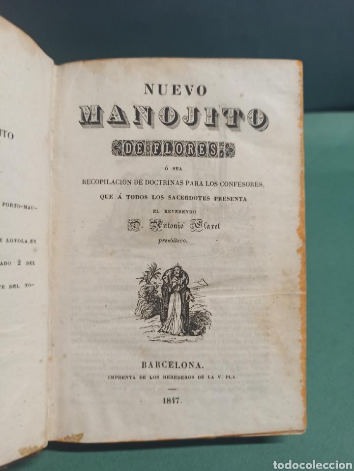 NUEVO MANOJITO DE FLORES Ó SEA RECOPILACIÓN DE DOCTRINAS PARA LOS CONFESORES 1847 (Libros Antiguos, Raros y Curiosos - Religión)