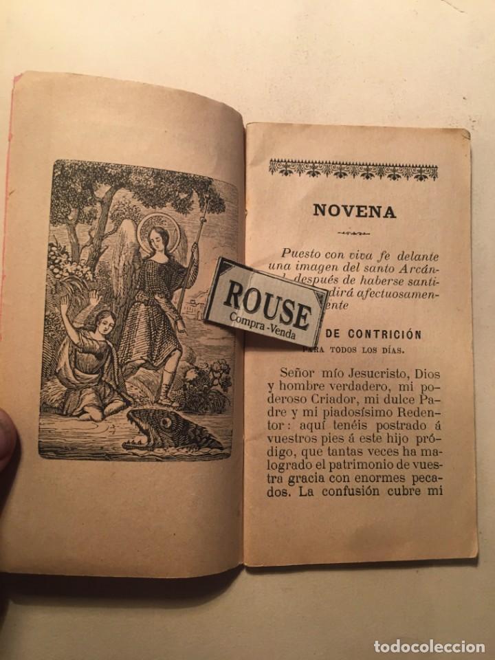 Libros antiguos: NOVENA - DEVOTO NOVENARIO EN OBSEQUIO DEL GLORIOSISIMO PRINCIPE EL ARCANGEL SAN RAFAEL 1898 POR RDO. - Foto 2 - 245004595