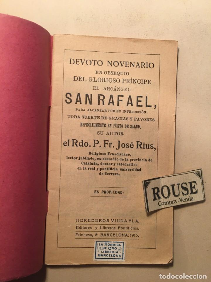 NOVENA - DEVOTO NOVENARIO EN OBSEQUIO DEL GLORIOSISIMO PRINCIPE EL ARCANGEL SAN RAFAEL 1913 POR RDO. (Libros Antiguos, Raros y Curiosos - Religión)