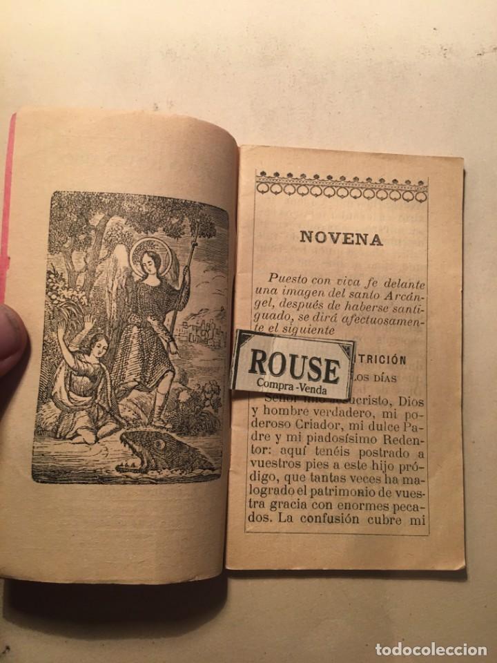 Libros antiguos: NOVENA - DEVOTO NOVENARIO EN OBSEQUIO DEL GLORIOSISIMO PRINCIPE EL ARCANGEL SAN RAFAEL 1913 POR RDO. - Foto 2 - 245005300