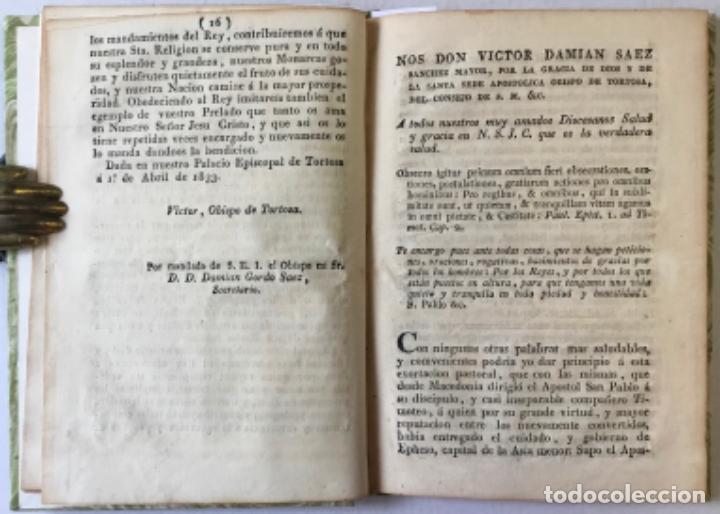 Libros antiguos: NOS DON VICTOR DAMIAN SAEZ SANCHEZ MAYOR, POR LA GRACIA DE DIOS Y DE LA SANTA SEDE APOSTOLICA... - Foto 3 - 245010200