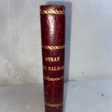 Libros antiguos: LIBRO ANTIGUO DEL AÑO 1872 CARTAS A UN ESCÉPTICO CON UNA ENCUADERNACIÓN DE LUJO SON DOS LIBROS EN 1. Lote 245310805