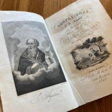 Libros antiguos: CONFESIONES DE SAN AGUSTIN - EUGENIO ZEBALLOS - 1849. Lote 245373140