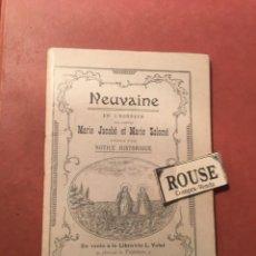 Libros antiguos: NOVENA - NEUVAINE EN L'HONNEUR DES SAINTES MARIE JACOBÉ ET MARIE SALOMÉ - MONTPELLIER 1903. Lote 245575240