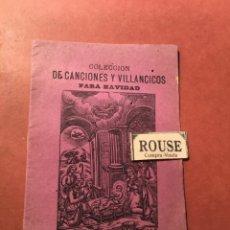 Libros antiguos: COLECCION CANCIONES Y VILLANCICOS PARA NAVIDAD 1885 SE VENDE EN CASA LOS SUCESORES DE A. BOSCH C.. Lote 245634780
