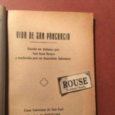 Libros antiguos: NOVENA - VIDA DE SAN PANCRACIO ESCRITA POR SAN JUAN BOSCO CASA SALESIANA DE SAN JOSE BARCELONA 1934. Lote 245637405