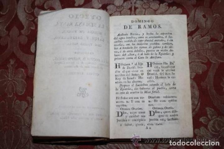 Libros antiguos: OFICIO DE LA SEMANA SANTA Y SEMANA DE PASQUA EN LATIN Y CASTELLANO. JOSEPH RIGUAL 1803 - Foto 2 - 245779645